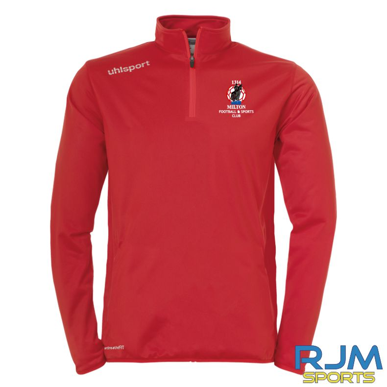 Milton FC Uhlsport Essential Quarter Zip Red/White