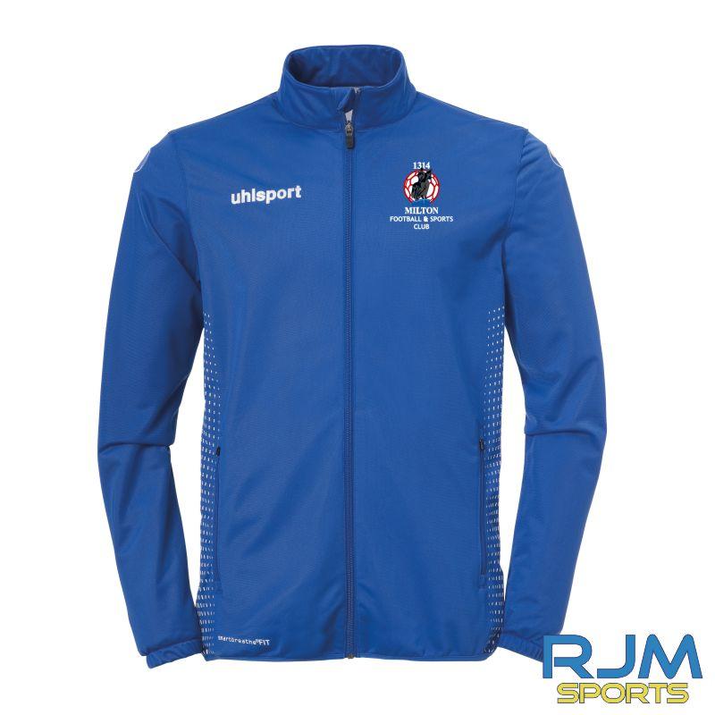 Milton FC Uhlsport Score Classic Jacket Azure Blue/White