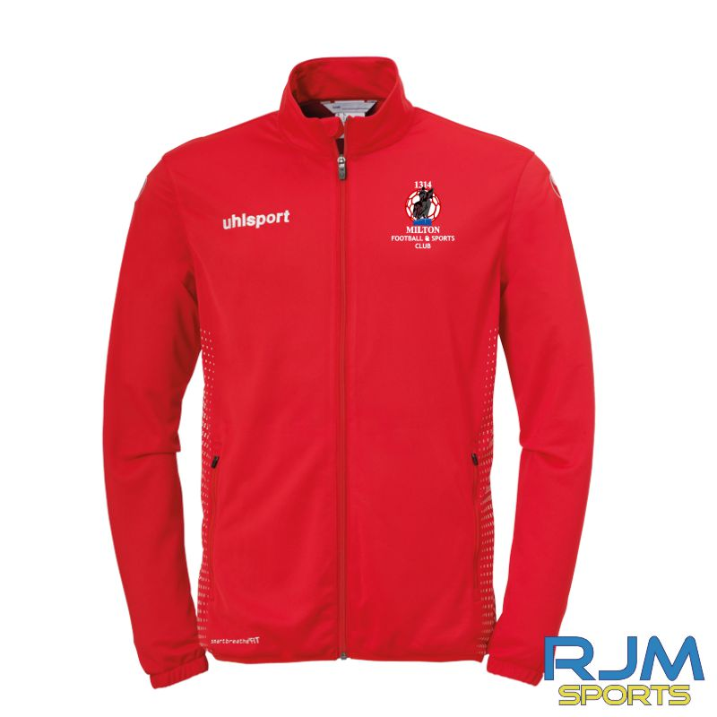 Milton FC Uhlsport Score Classic Jacket Azure Red/White