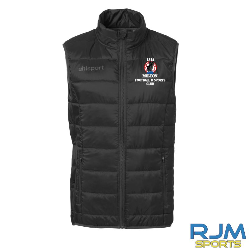 Milton FC Uhlsport Essential Ultra Lite Down Vest Black/Anthratcite