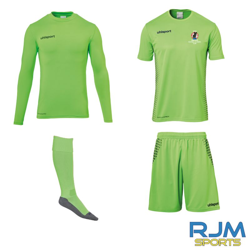 Milton FC Uhlsport Score GK Set Fluorescent Green/Navy