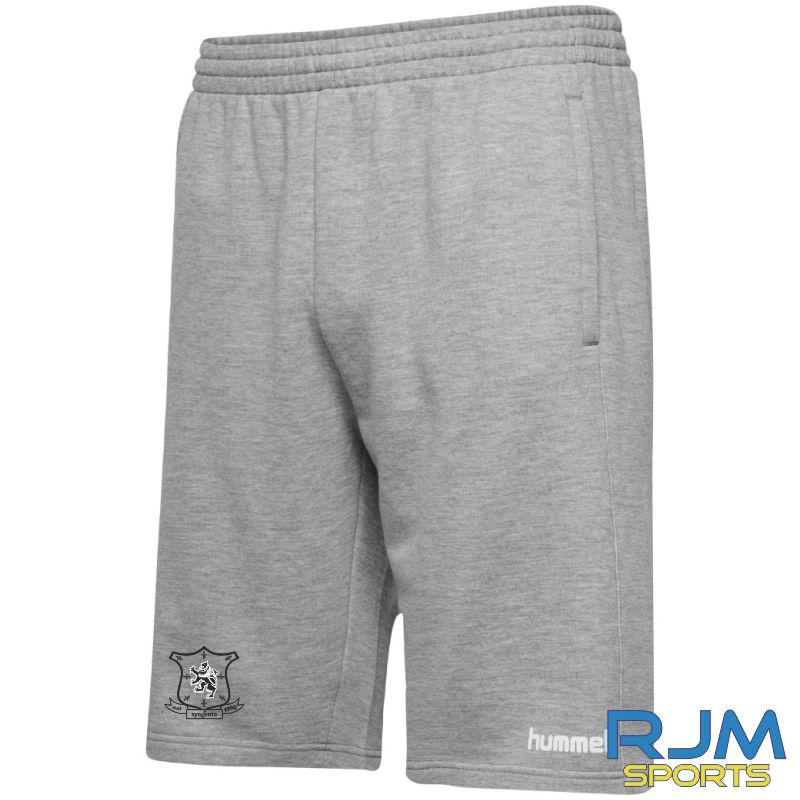 Syngenta Juveniles Hummel Go Cotton Bermuda Shorts Grey Melange