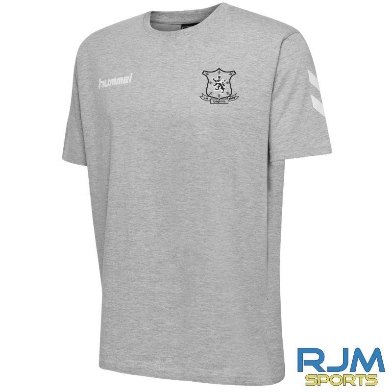 Syngenta Juveniles Hummel Go Cotton T-Shirt Grey Melange