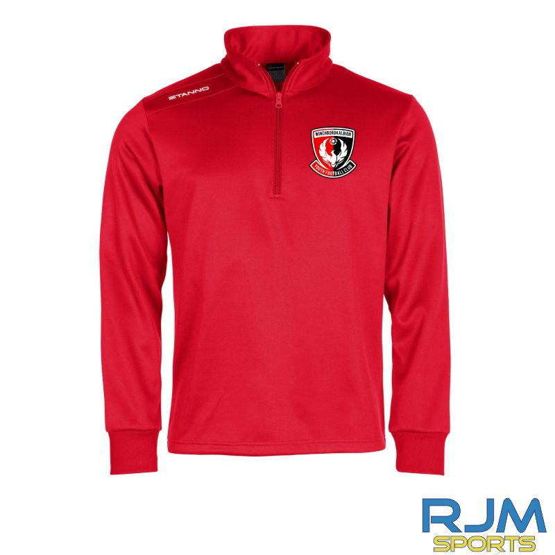 Winchburgh Albion Stanno Field Top Half Zip Red