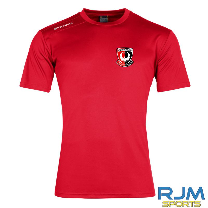 Winchburgh Albion Stanno Field Short Sleeve T-Shirt Red