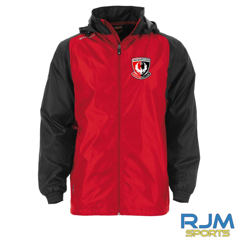 Winchburgh Albion Stanno Centro Windbreaker Red/Black
