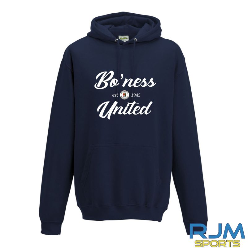 Boness United FC AWDis College Hoodie New French Navy