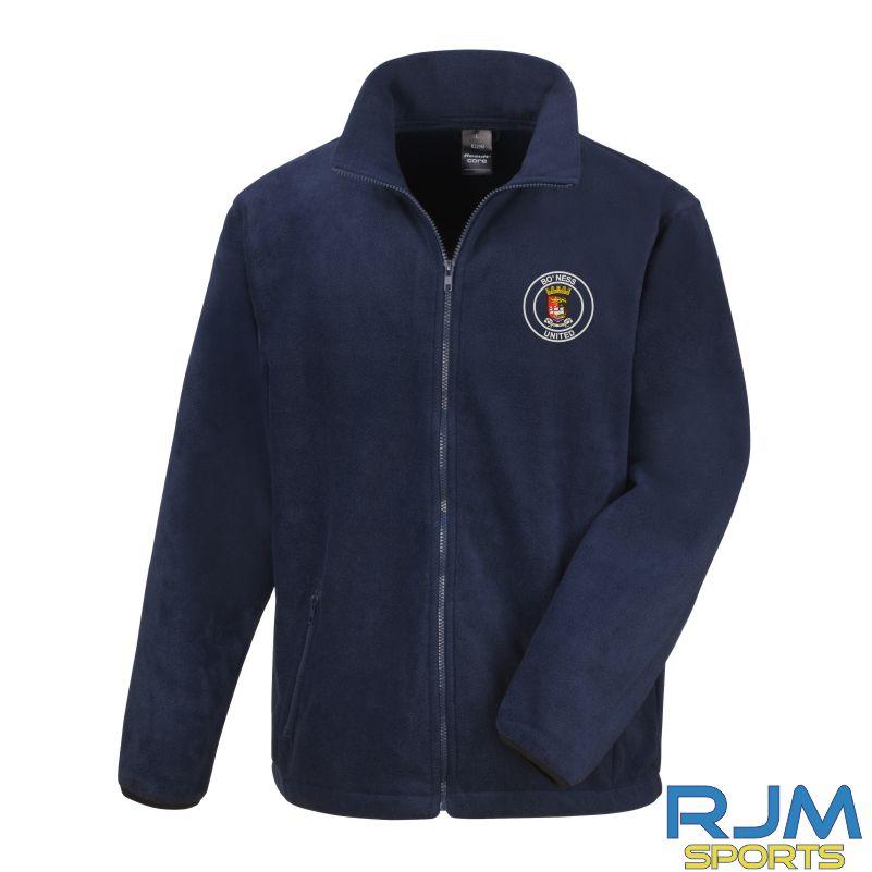 Boness United FC Result Core Fleece Jacket Navy