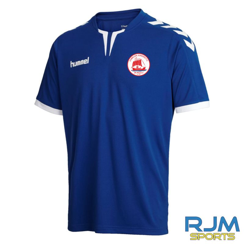 Camelon Juniors FC Hummel Core Poly Short Sleeve Away Shirt True Blue White