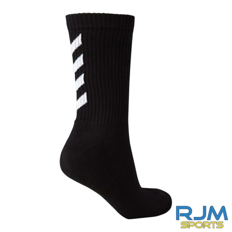Camelon Juniors FC Coaches Training Hummel Fundamental 3-Pack Sock Black White