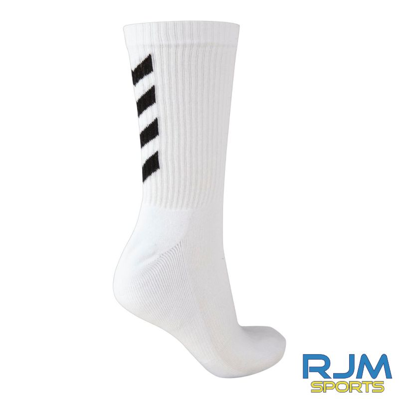 Camelon Juniors FC Coaches Training Hummel Fundamental 3-Pack Sock White Black