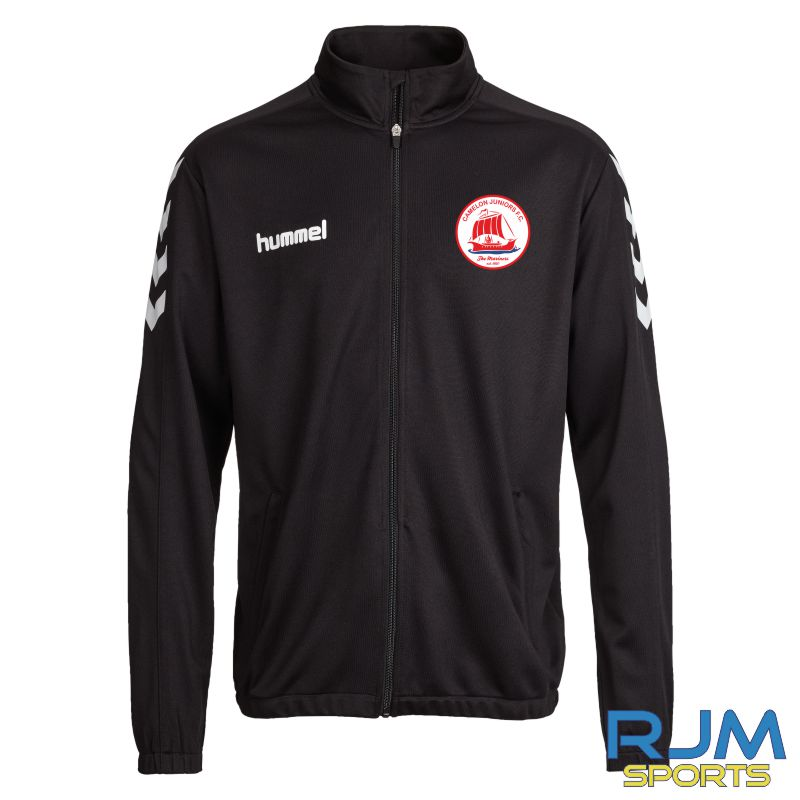 Camelon Juniors FC Coaches Match Day Hummel Core Poly Jacket Black White