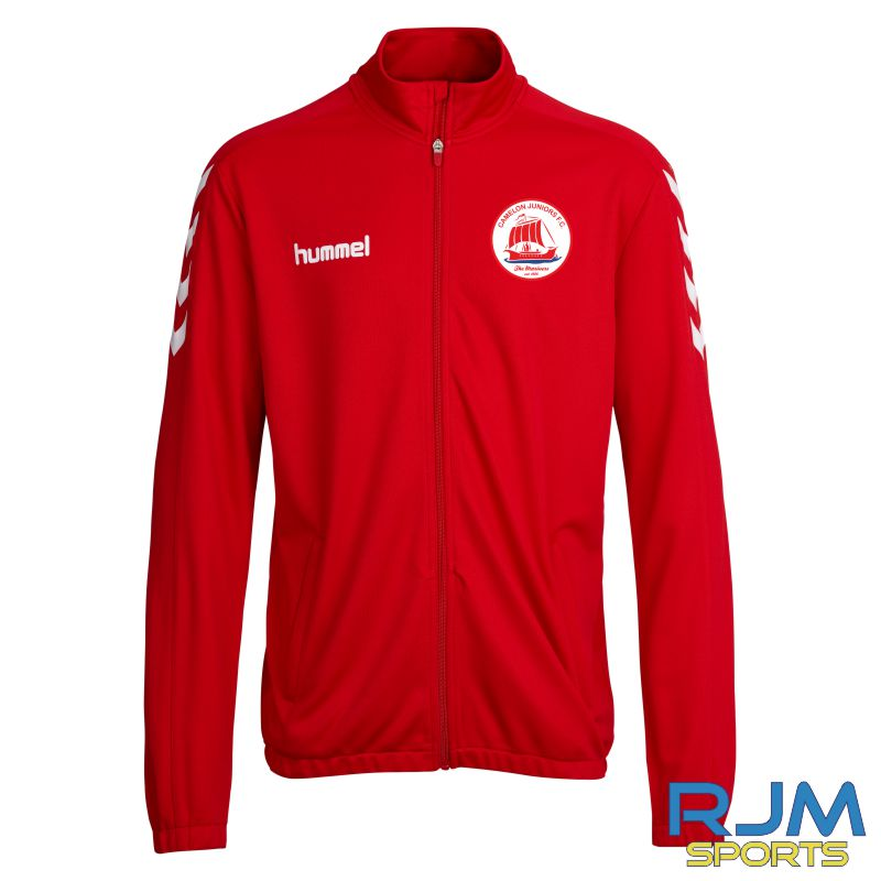 Camelon Juniors FC Players Match Day Hummel Core Poly Jacket Red White