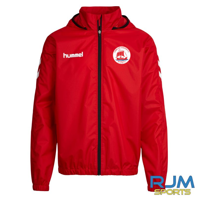 Camelon Juniors FC Players Training Hummel Core Spray Rain Jacket Red White