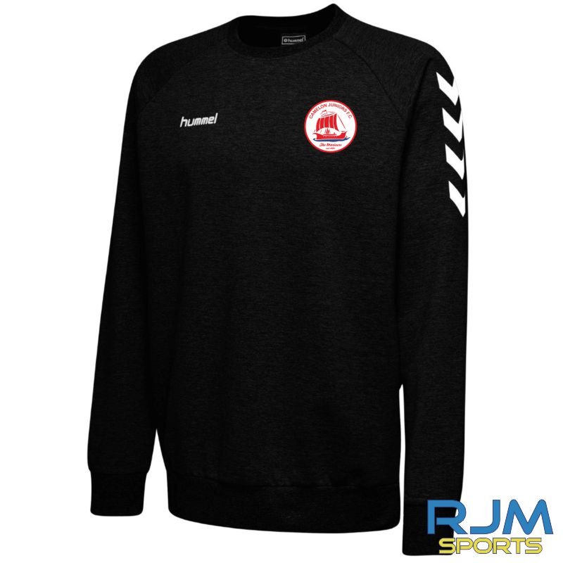 Camelon Juniors FC Hummel Go Cotton Sweatshirt Black