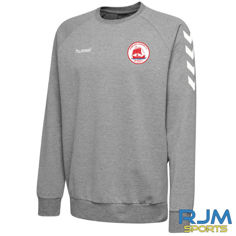 Camelon Juniors FC Hummel Go Cotton Sweatshirt Grey Melange