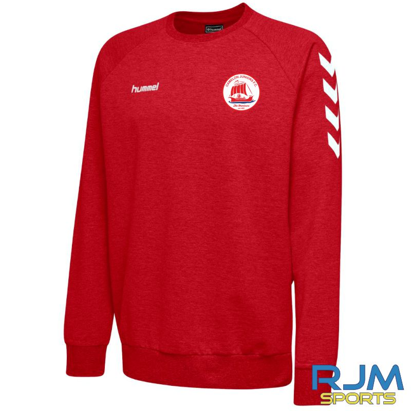 Camelon Juniors FC Hummel Go Cotton Sweatshirt True Red