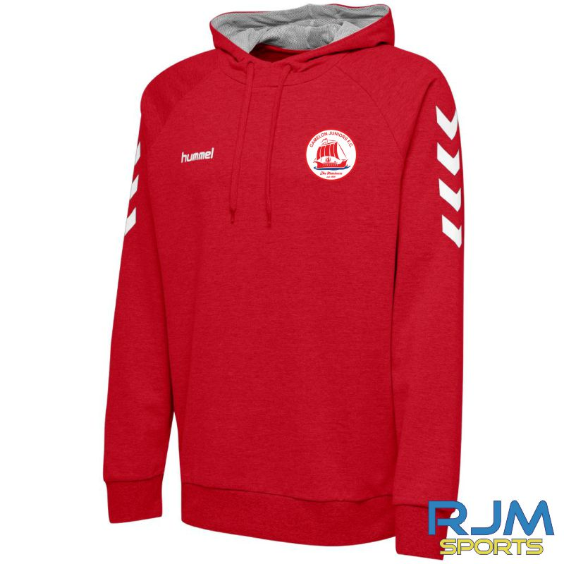 Camelon Juniors FC Hummel Go Cotton Hoodie True Red