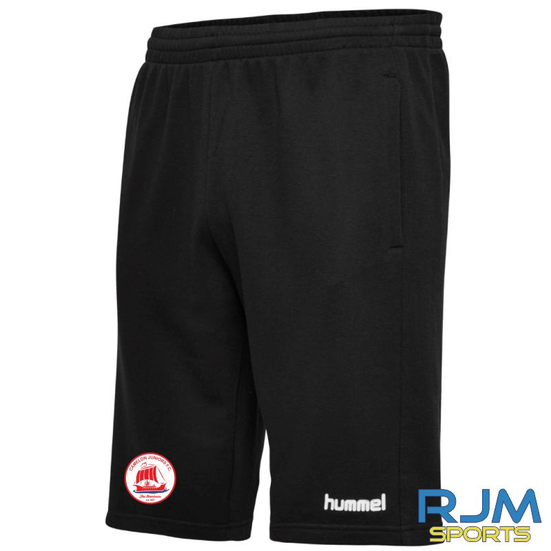 Camelon Juniors FC Hummel Go Cotton Bermuda Shorts Black
