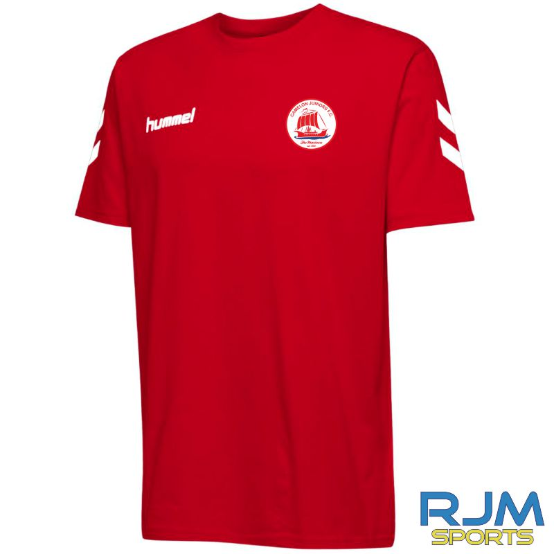 Camelon Juniors FC Hummel Go Short Sleeve Cotton T Shirt True Red