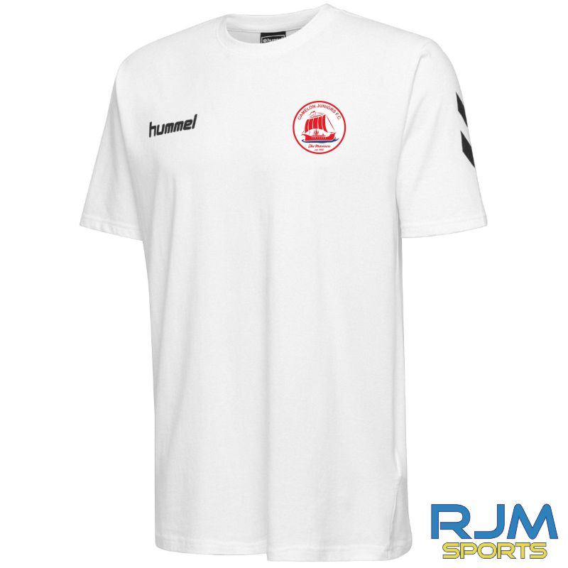 Camelon Juniors FC Hummel Go Short Sleeve Cotton T Shirt White