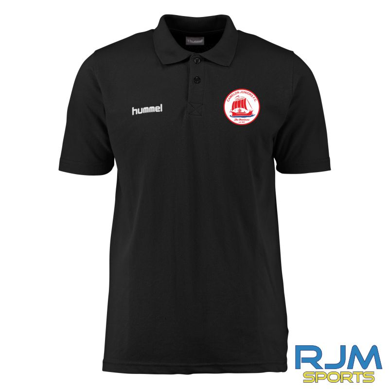 Camelon Juniors FC Hummel Core Hybrid Polo Shirt Black