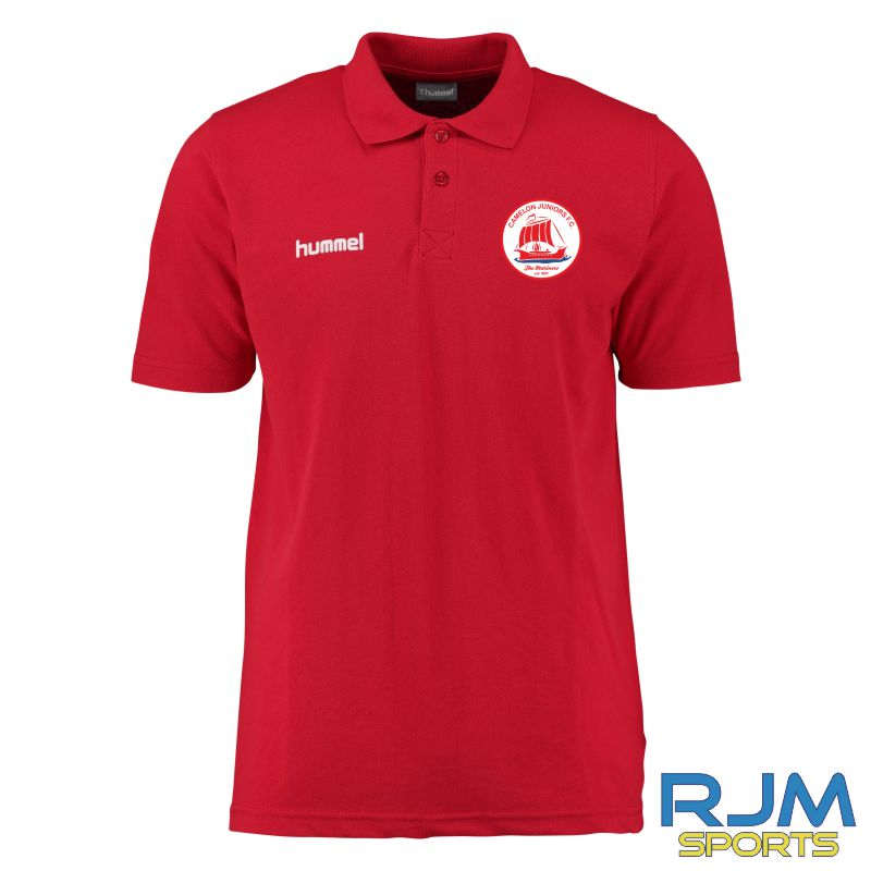 Camelon Juniors FC Hummel Core Hybrid Polo Shirt True Red