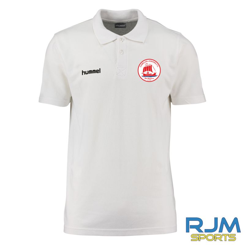 Camelon Juniors FC Hummel Core Hybrid Polo Shirt White