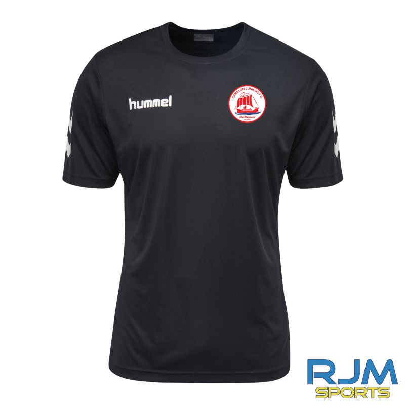 Camelon Juniors FC Coaches Training Hummel Core Hybrid Solo Jersey Black White