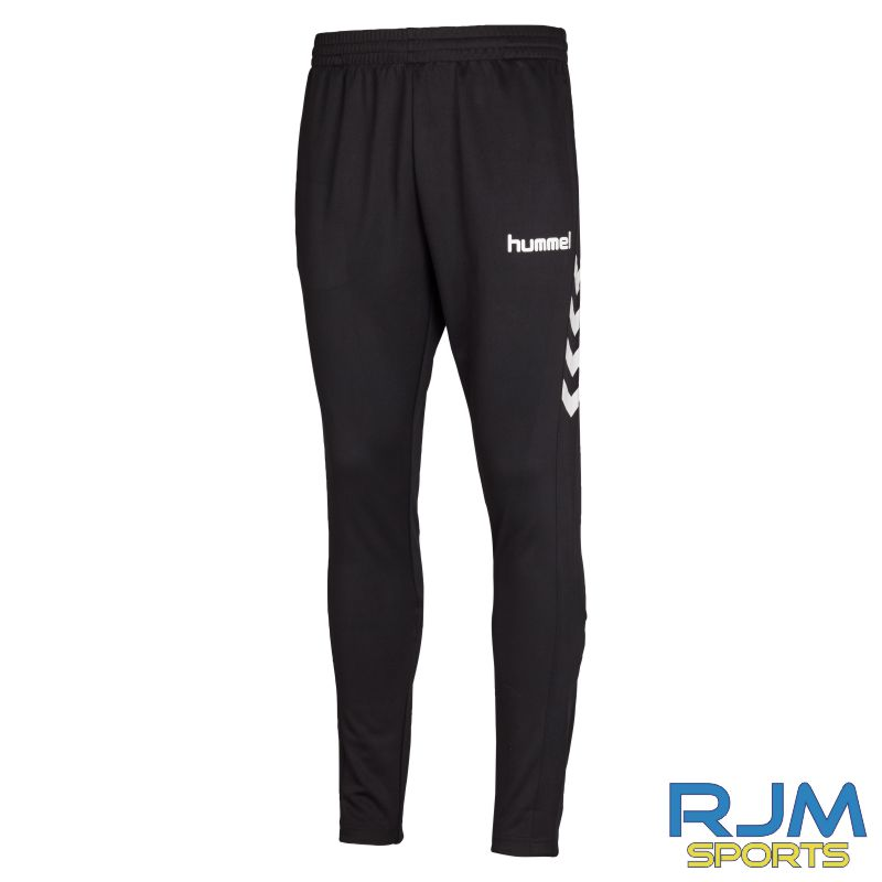Camelon Juniors FC Coaches Training Hummel Core Football Pant Black White