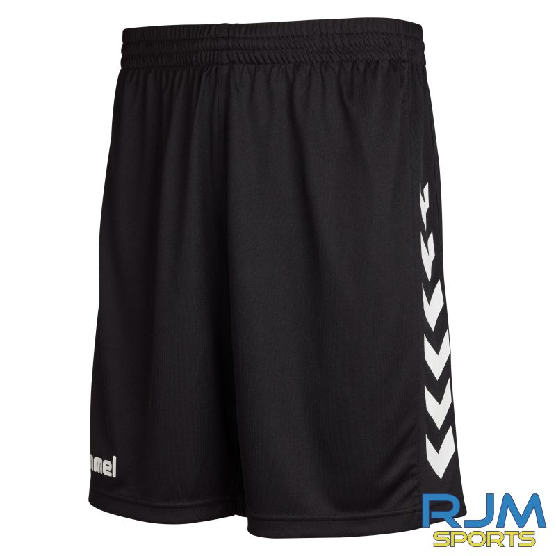Camelon Juniors FC Coaches Training Hummel Core Poly Short Black White
