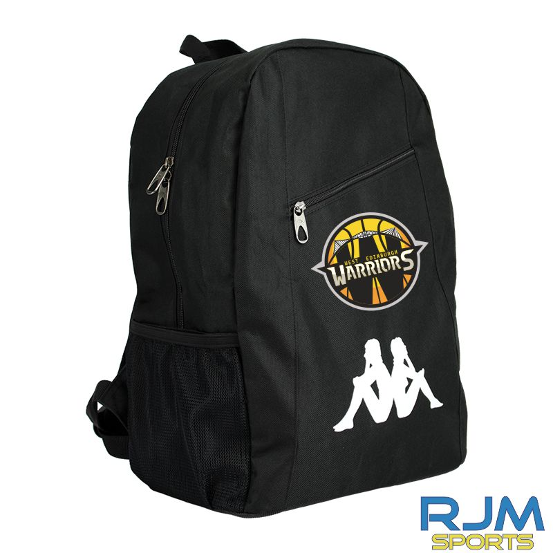 West Edinburgh Warriors Kappa Velia Backpack Black