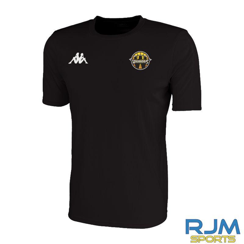 West Edinburgh Warriors Kappa Rovigo Short Sleeve T-Shirt Black