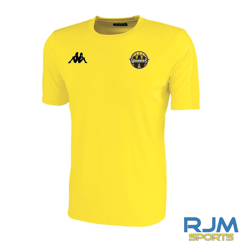West Edinburgh Warriors Kappa Rovigo Short Sleeve T-Shirt Yellow Black