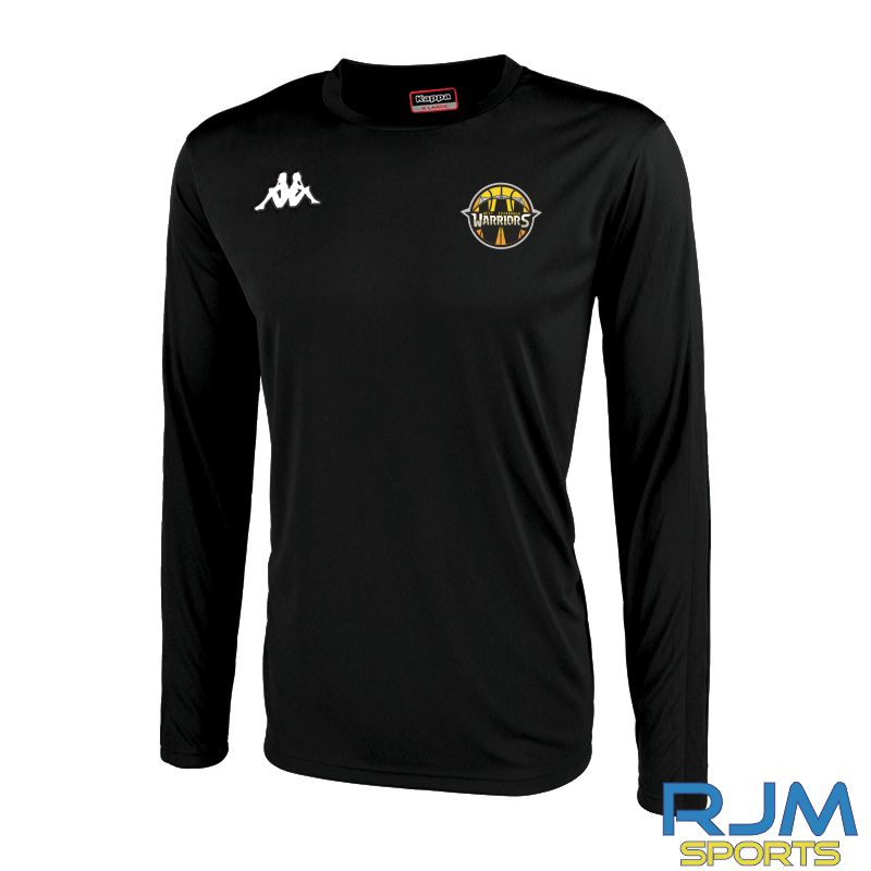 West Edinburgh Warriors Kappa Rovingo Long Sleeve T-Shirt Black