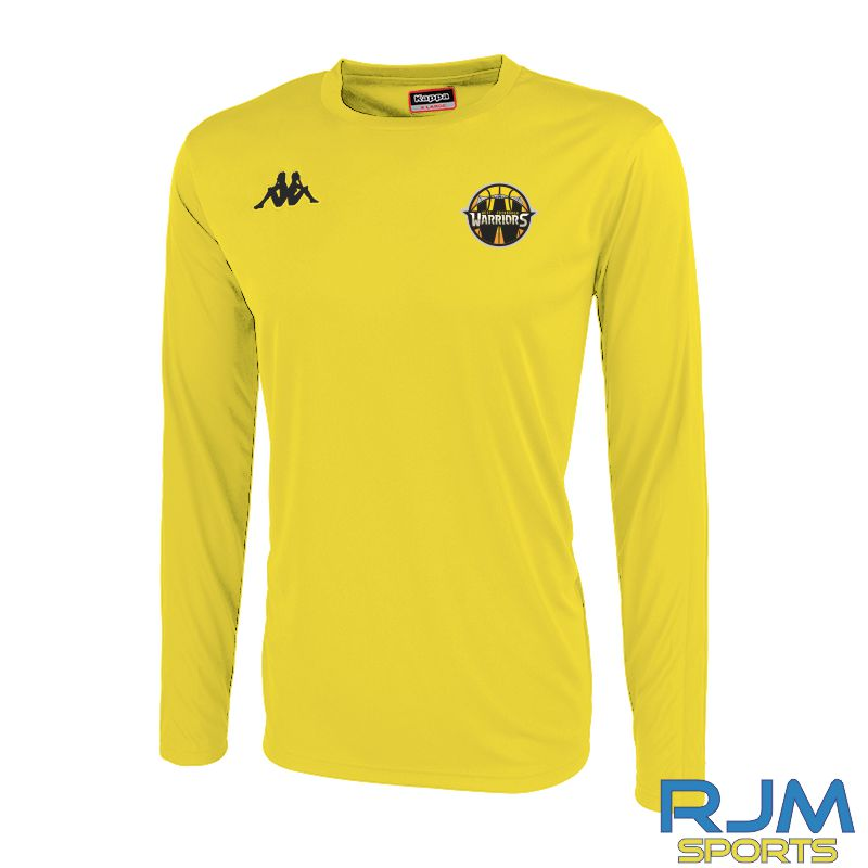 West Edinburgh Warriors Kappa Rovingo Long Sleeve T-Shirt Yellow Black