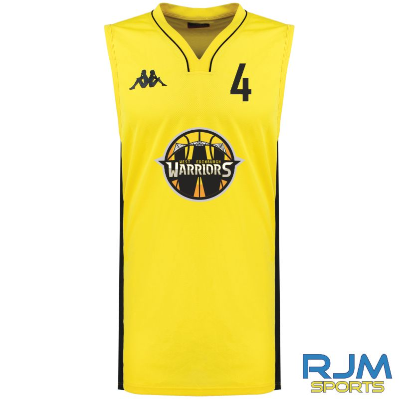 West Edinburgh Warriors Kappa Cairo Home Sleeveless Match Shirt Yellow Black