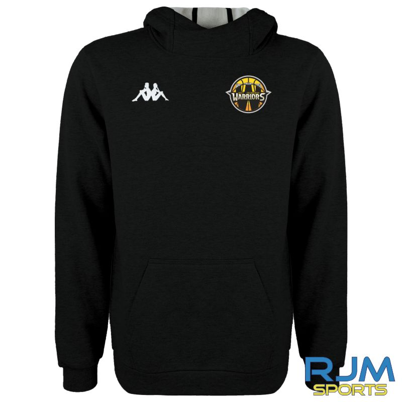 West Edinburgh Warriors Kappa Basilo Hoodie Black