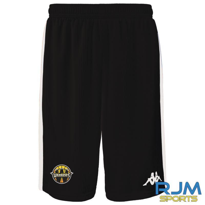 West Edinburgh Warriors Kappa Caluso Away Match Shorts Black White