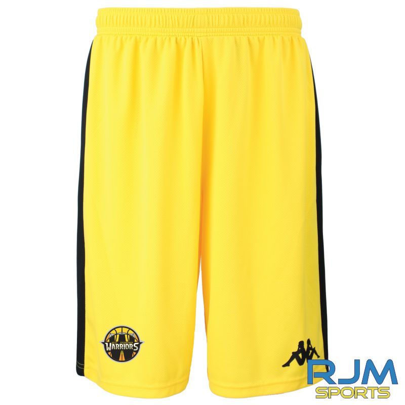 West Edinburgh Warriors Kappa Caluso Home Match Shorts Yellow Black