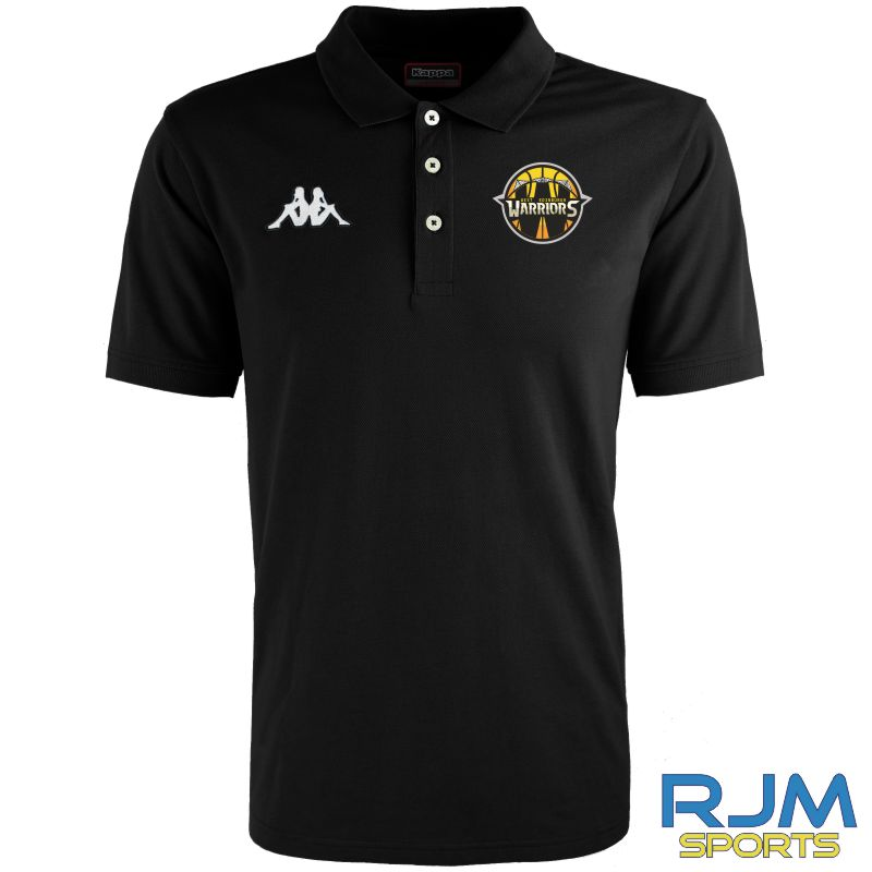 West Edinburgh Warriors Kappa Peglio Polo-Shirt Black