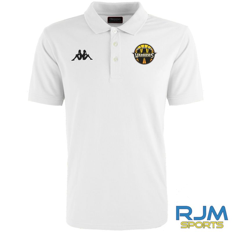 West Edinburgh Warriors Kappa Peglio Polo-Shirt White