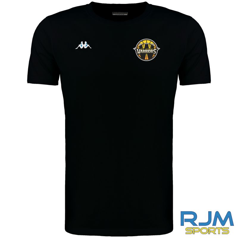 West Edinburgh Warriors Kappa Meleto T-Shirt Black