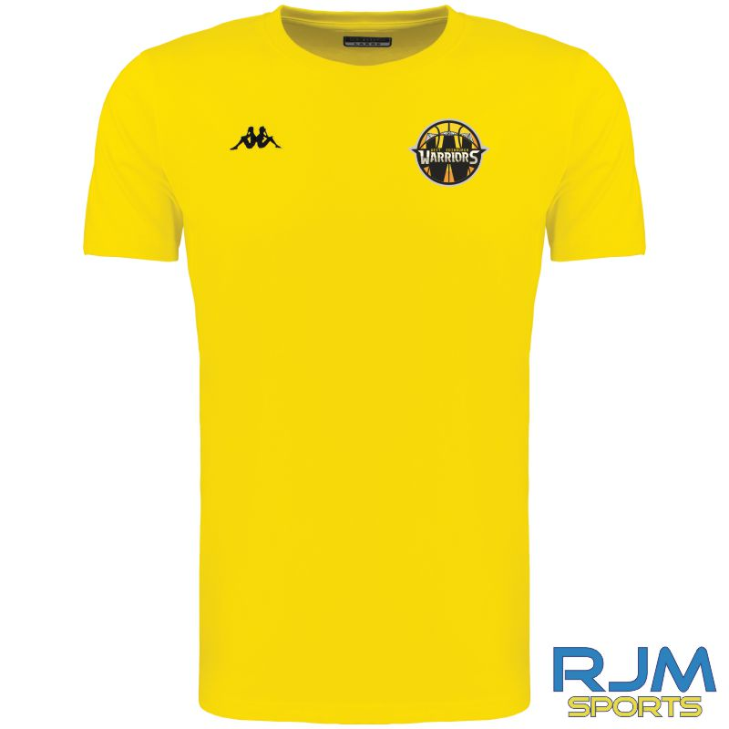 West Edinburgh Warriors Kappa Meleto T-Shirt Yellow