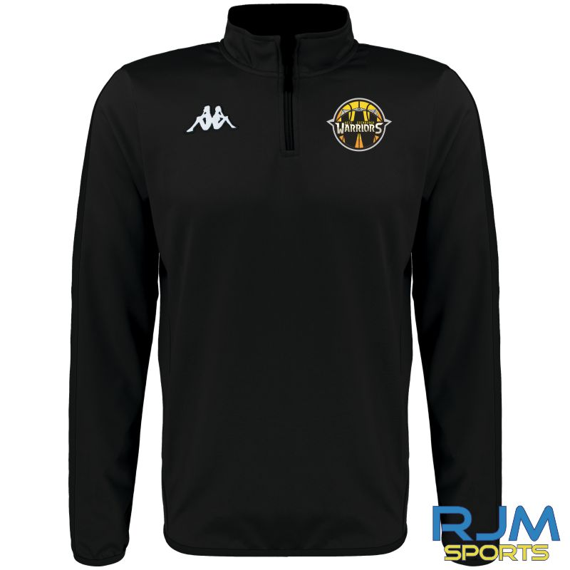 West Edinburgh Warriors Kappa Tavole Quarter Zip Black