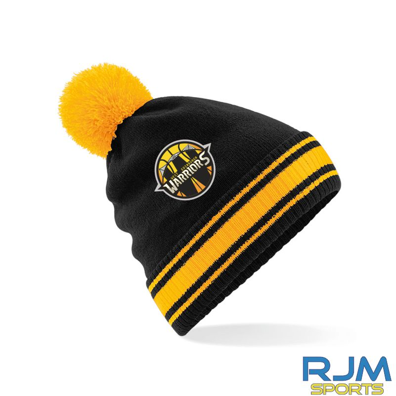 West Edinburgh Warriors Bobble Hat Black Gold