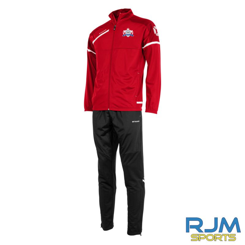 Braehead FC Stanno Prestige Polyester Tracksuit Red/White