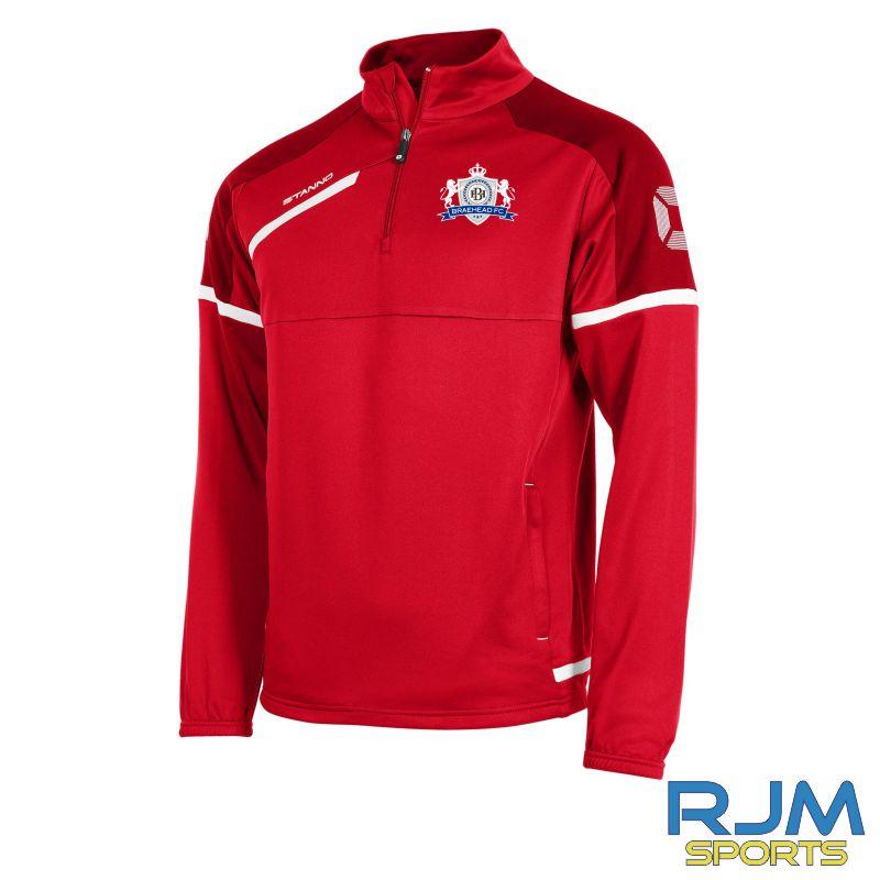 Braehead FC Stanno Prestige TTS Half Zip Top Red/White