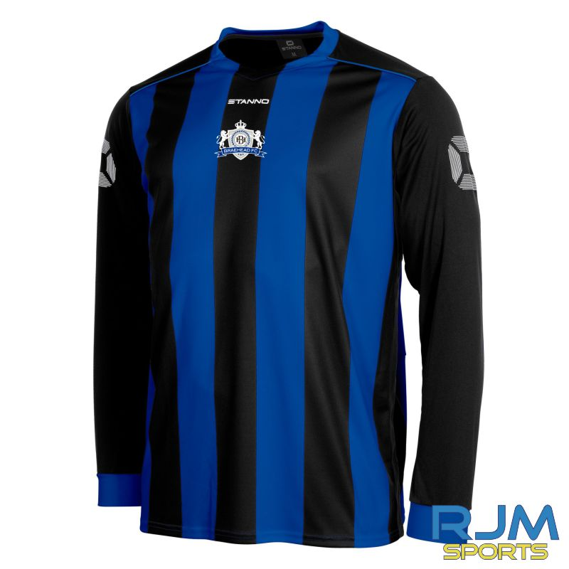 Braehead FC Stanno Brighton Long Sleeve Home Shirt Royal/Black