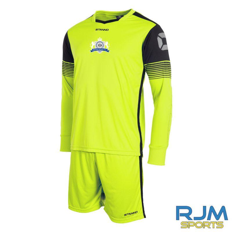 Braehead FC Stanno Nitro GK Set Neon Yellow Black